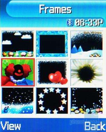 Fun Frames - Camera Interface - Samsung SGH-T719 Review