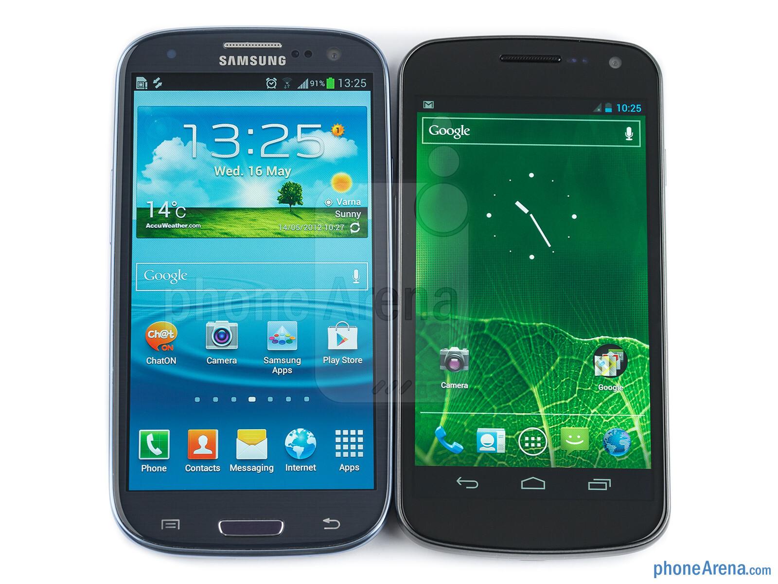 Samsung Galaxy V: Samsung Galaxy S III Vs Samsung Galaxy Nexus