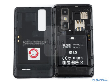 Battery compartment - LG Optimus 3D MAX Review