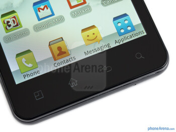 Android buttons - LG Optimus 3D MAX Review