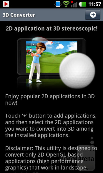 3D converter for apps - LG Optimus 3D MAX Review