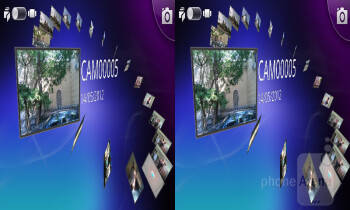 Converting also works in the gallery as well - LG Optimus 3D MAX Review