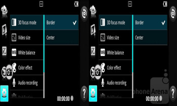 3D camera interface - LG Optimus 3D MAX Review