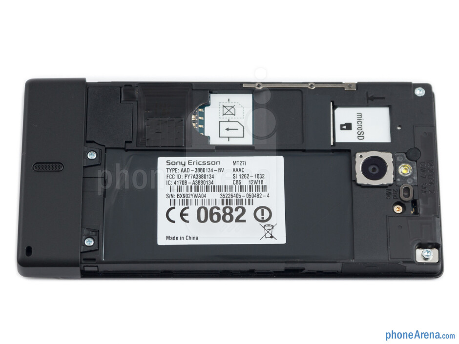 Battery compartment - Sony Xperia sola Review