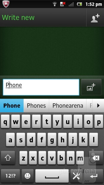 On-screen keyboard - Sony Xperia sola Review