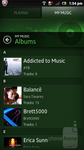 Music player - Sony Xperia sola Review