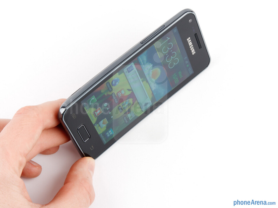 The Samsung Galaxy S Advance boasts a curved glass display and a textured back cover - Samsung Galaxy S Advance Review