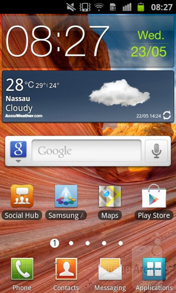 The Samsung Galaxy S Advance runs Android 2.3.6 Gingerbread customized with TouchWiz 4.0 UI - Samsung Galaxy S Advance Review