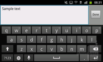 On-screen virtual keyboard - Samsung Galaxy S Advance Review