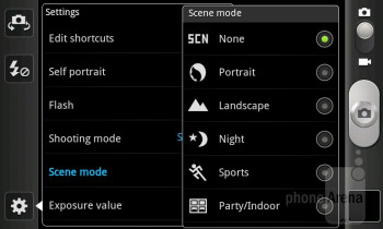 Camera interface - Samsung Galaxy S Advance Review