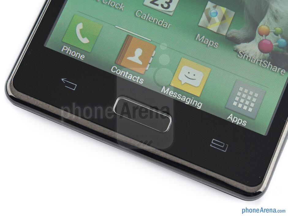 Android buttons - LG Optimus L7 Review
