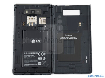 Battery compartment - LG Optimus L7 Review