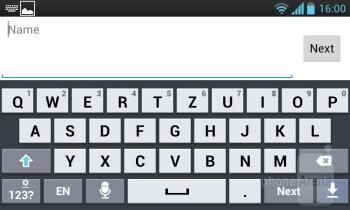 The virtual keyboard - LG Optimus L7 Review