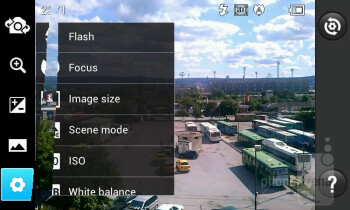 Camera interface - LG Optimus L7 Review