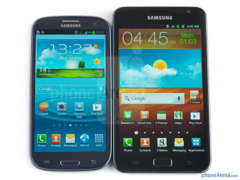 The Samsung Galaxy S III (left) and the Samsung Galaxy Note (right) - Samsung Galaxy S III vs Samsung Galaxy Note