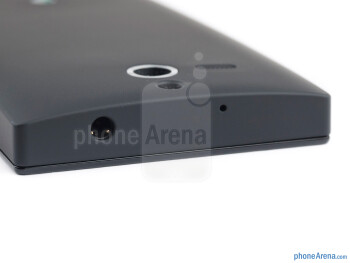 3.5mm jack (top) - The sides of the Sony Xperia U - Sony Xperia U Review