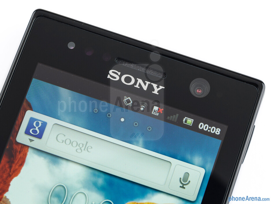 Front-facing camera - Sony Xperia U Review