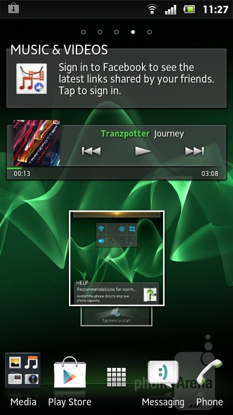 Music player - Sony Xperia U Review