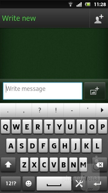 Virtual keyboard - Sony Xperia U Review