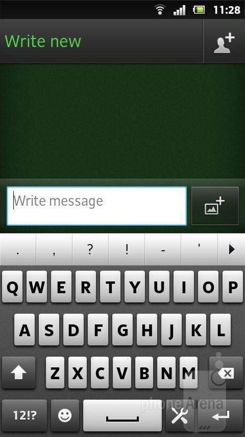 Virtual keyboard - Sony Xperia U Review