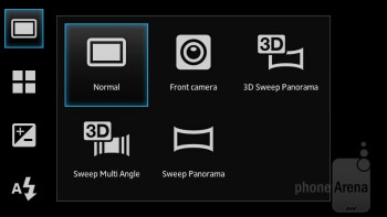Camera interface - Sony Xperia U Review