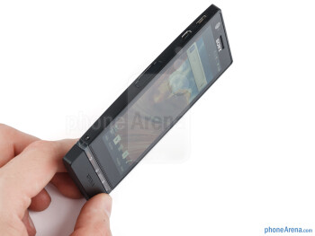The Sony Xperia P is one of the smaller (narrower) smartphones out there - Sony Xperia P Review