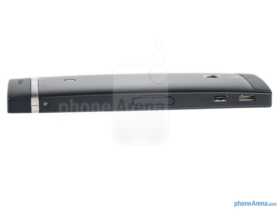 Left edge - The sides of the Sony Xperia P - Sony Xperia P Review