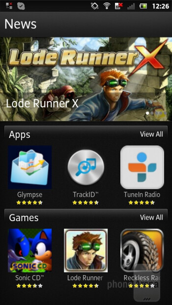 Recommender app - Sony Xperia P Review