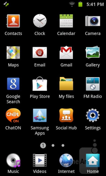 The Samsung Galaxy Player 4.2 runs the TouchWiz UI on top of Android 2.3.6 Gingerbread - Samsung Galaxy Player 4.2 Review