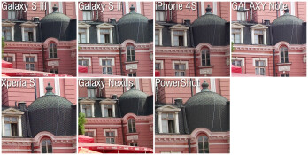 100% Crops - Camera comparison: Samsung Galaxy S III vs the fierce competition