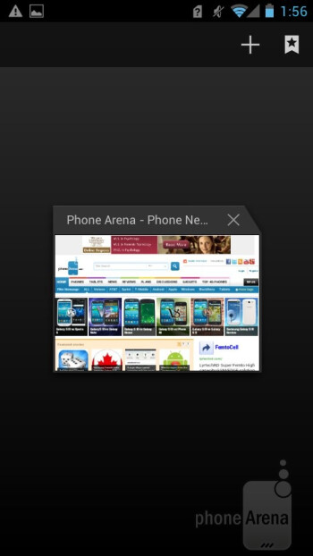 The stock ICS browser runs smooth as silk on the Huawei Ascend P1 - Huawei Ascend P1 Review