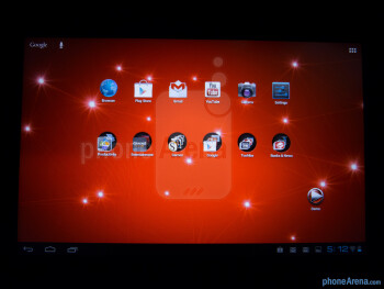 Viewing angles of the Toshiba Excite 10 - Toshiba Excite 10 Review