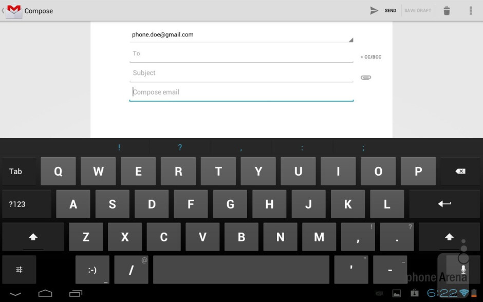 On-screen keyboards - Toshiba Excite 10 Review