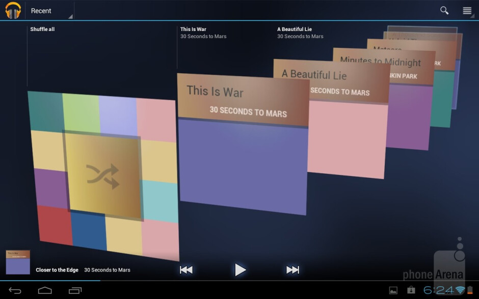 The stock ICS player - The Toshiba media player - Toshiba Excite 10 Review