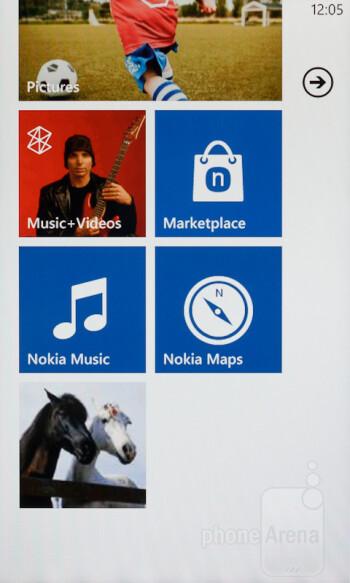 """The Windows Phone 7.5 """"Metro"""" interface on the Nokia Lumia 610 - Nokia Lumia 610 Review"""