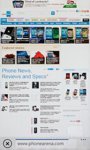 Web browsing with the Nokia Lumia 610 - Nokia Lumia 610 Review