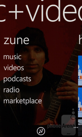 The default music player - Nokia Lumia 610 Review