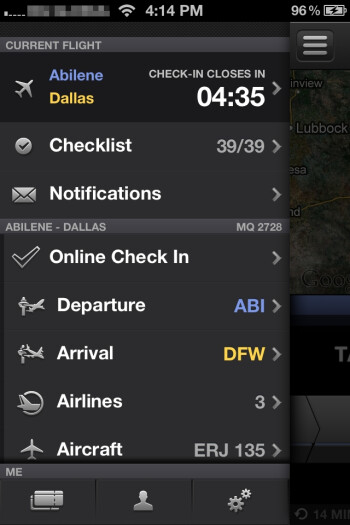 The interface may look pretty, but it lacks intuitiveness - App in the Air for iPhone Review