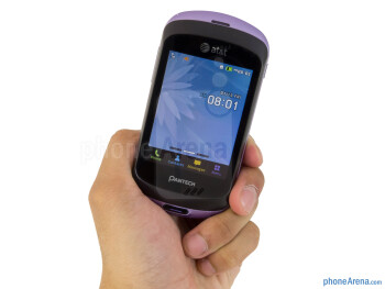 The Pantech Swift is compact and light enough to comfortably hold in the hand - Pantech Swift Review