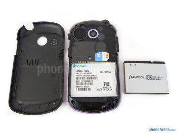 Battery compartment - Pantech Swift Review
