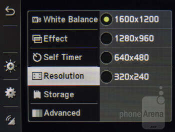 Camera interface - Pantech Swift Review