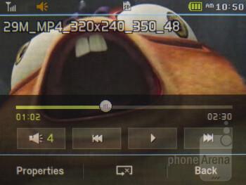 Video player - Pantech Swift Review