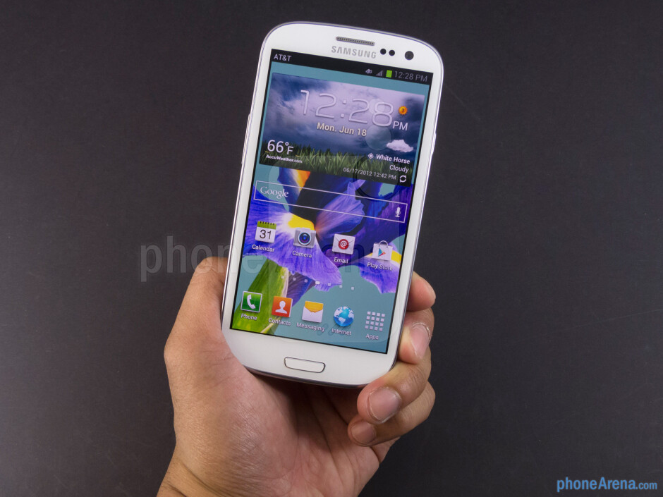 The AT&T and Sprint versions of the Samsung Galaxy S III share the same design of the international version - Samsung Galaxy S III Review (AT&T, Verizon, T-Mobile, Sprint)
