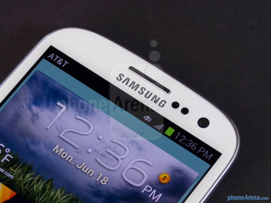 Sensors and front-facing camera - Samsung Galaxy S III Review (AT&T, Verizon, T-Mobile, Sprint)