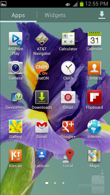 We find the TouchWiz Nature UX running on top of Android 4.0 on the Samsung Galaxy S IIIs - Samsung Galaxy S III Review (AT&T, Verizon, T-Mobile, Sprint)