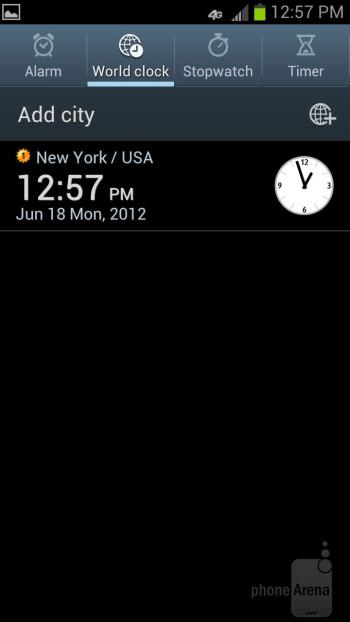 Core organizer apps on the Samsung Galaxy S III - Google Nexus 4 vs Samsung Galaxy S III