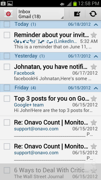 Email - Samsung Galaxy S III Review (AT&T, Verizon, T-Mobile, Sprint)