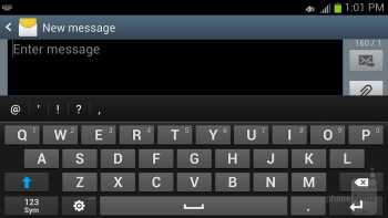 Composing messages with the Samsung Galaxy S III - HTC DROID DNA vs Samsung Galaxy S III