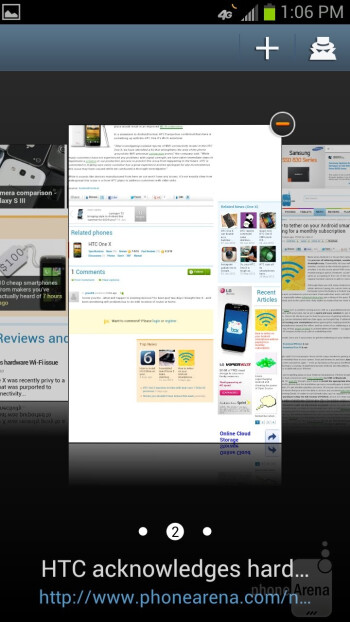 Web browser of the Samsung Galaxy S III - Google Nexus 4 vs Samsung Galaxy S III