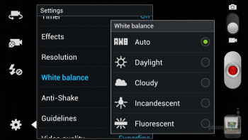 Camera interface - Samsung Galaxy S III Review (AT&T, Verizon, T-Mobile, Sprint)